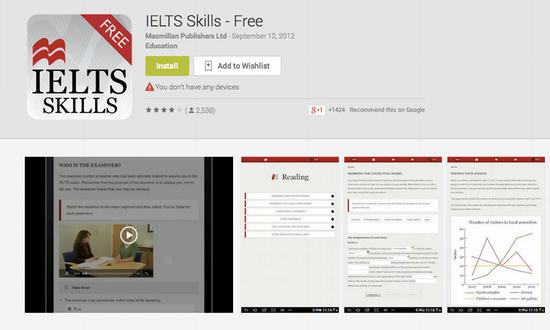 Top ứng dụng Android luyện thi IELTS | Kho ứng dụng Android